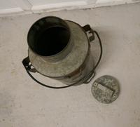 19th Century Galvanised Metal Milk Churn with Iron Strapping (4 of 4)