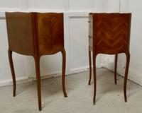 Pair of French Satin Walnut Bedside Cabinets (6 of 6)