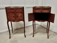 Pair of French Satin Walnut Bedside Cabinets (4 of 6)