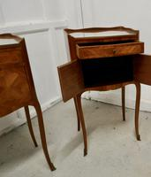 Pair of French Satin Walnut Bedside Cabinets (3 of 6)