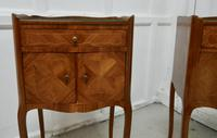 Pair of French Satin Walnut Bedside Cabinets (2 of 6)