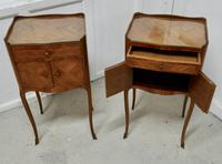 Pair of French Satin Walnut Bedside Cabinets (5 of 6)
