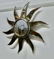 French Retro Sunburst Industrial Look Polished Steel Mirror (4 of 5)