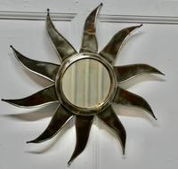 French Retro Sunburst Industrial Look Polished Steel Mirror (2 of 5)