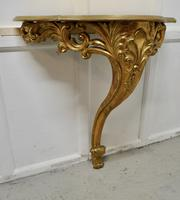 19th Century French Gilt Console or Hall Table & Matching Mirror Set (9 of 11)