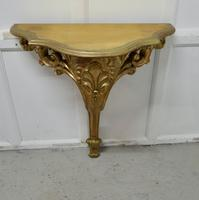19th Century French Gilt Console or Hall Table & Matching Mirror Set (6 of 11)