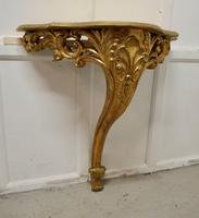 19th Century French Gilt Console or Hall Table & Matching Mirror Set (4 of 11)