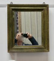 19th Century French Wall Mirror with Old Painted Frame (2 of 4)