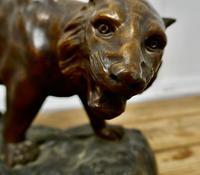 Ferocious Bronze Tiger Statue (2 of 6)