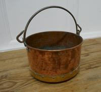 Beaten Copper & Brass Bucket Planter (4 of 4)
