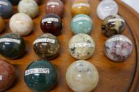 Set of French Marble Orbs on a Turned Solitaire Board (5 of 9)
