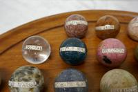 Set of French Marble Orbs on a Turned Solitaire Board (3 of 9)