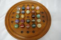 Set of French Marble Orbs on a Turned Solitaire Board (8 of 9)
