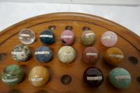 Set of French Marble Orbs on a Turned Solitaire Board (7 of 9)