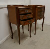 Pair of French. 3 Drawer Cherrywood Bedside Cabinets (3 of 4)