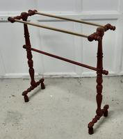French Oak and Brass Towel Rail (2 of 7)