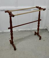 French Oak and Brass Towel Rail (4 of 7)