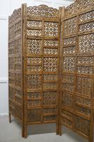 Large North African Carved Pierced 3 Fold Screen (4 of 4)
