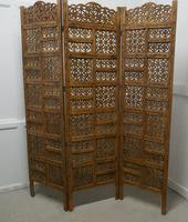 Large North African Carved Pierced 3 Fold Screen (2 of 4)