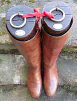 Pair of Gentleman'S Antique Leather Riding Boots with Trees C.1900 (5 of 6)