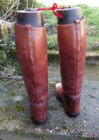 Pair of Gentleman'S Antique Leather Riding Boots with Trees C.1900 (6 of 6)