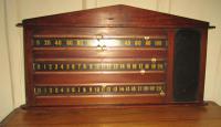 19th Century Mahogany Snooker Score Board