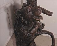 Marvellous Black Forest Carved Bear Hall Stand (4 of 5)