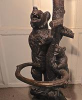Marvellous Black Forest Carved Bear Hall Stand (5 of 5)
