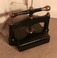 19th Century, Brass & Cast Iron Flower or Book Press (4 of 5)