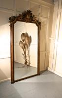Very Large French Mirror, Winged Sphinx & Lyons Mask Crest (4 of 6)