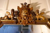 Very Large French Mirror, Winged Sphinx & Lyons Mask Crest (5 of 6)