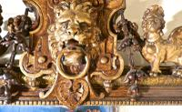 Very Large French Mirror, Winged Sphinx & Lyons Mask Crest (6 of 6)