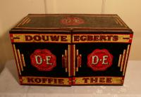 Large Art Deco Grocers Tolewear Double Coffee & Tea Canister