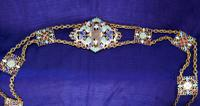 Charming Early 20th Century Turkish Cloisonné Belt