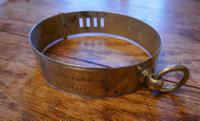 Important 19th Century French Nickel Silver Hunting Dog Collar, Engraved Provenance (5 of 9)