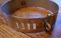 Important 19th Century French Nickel Silver Hunting Dog Collar, Engraved Provenance (3 of 9)