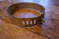 Important 19th Century French Nickel Silver Hunting Dog Collar, Engraved Provenance (7 of 9)
