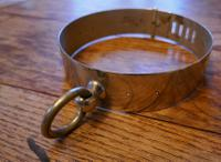 Important 19th Century French Nickel Silver Hunting Dog Collar, Engraved Provenance (8 of 9)
