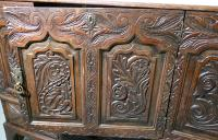 Large 18th Century Carved Oak Marriage Chest (7 of 9)
