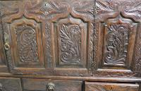 Large 18th Century Carved Oak Marriage Chest (5 of 9)