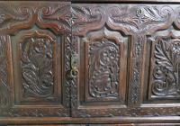 Large 18th Century Carved Oak Marriage Chest (2 of 9)