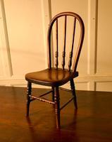 19th Century Miniature Beech & Ash Hoop Back Kitchen Chair (7 of 8)