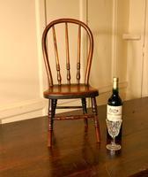 19th Century Miniature Beech & Ash Hoop Back Kitchen Chair (3 of 8)