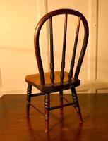 19th Century Miniature Beech & Ash Hoop Back Kitchen Chair (8 of 8)