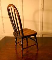 19th Century Miniature Beech & Ash Hoop Back Kitchen Chair (6 of 8)
