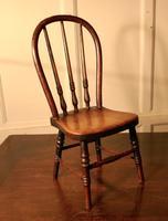 19th Century Miniature Beech & Ash Hoop Back Kitchen Chair (2 of 8)
