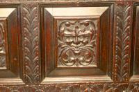 Carved Oak Mule Chest, Green Man Oak Coffer (7 of 12)