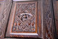 Carved Oak Mule Chest, Green Man Oak Coffer (2 of 12)