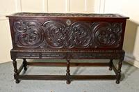17th Century Carved Oak Sword Chest on Stand (10 of 10)