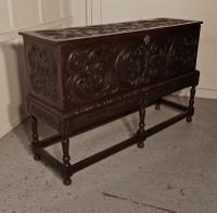17th Century Carved Oak Sword Chest on Stand (9 of 10)